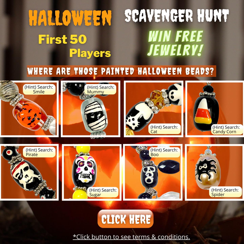 Halloween Scavenger Hunt |  Halloween Jewelry | Handmade Glass Bead Jewelry for Daughter Teenager Women