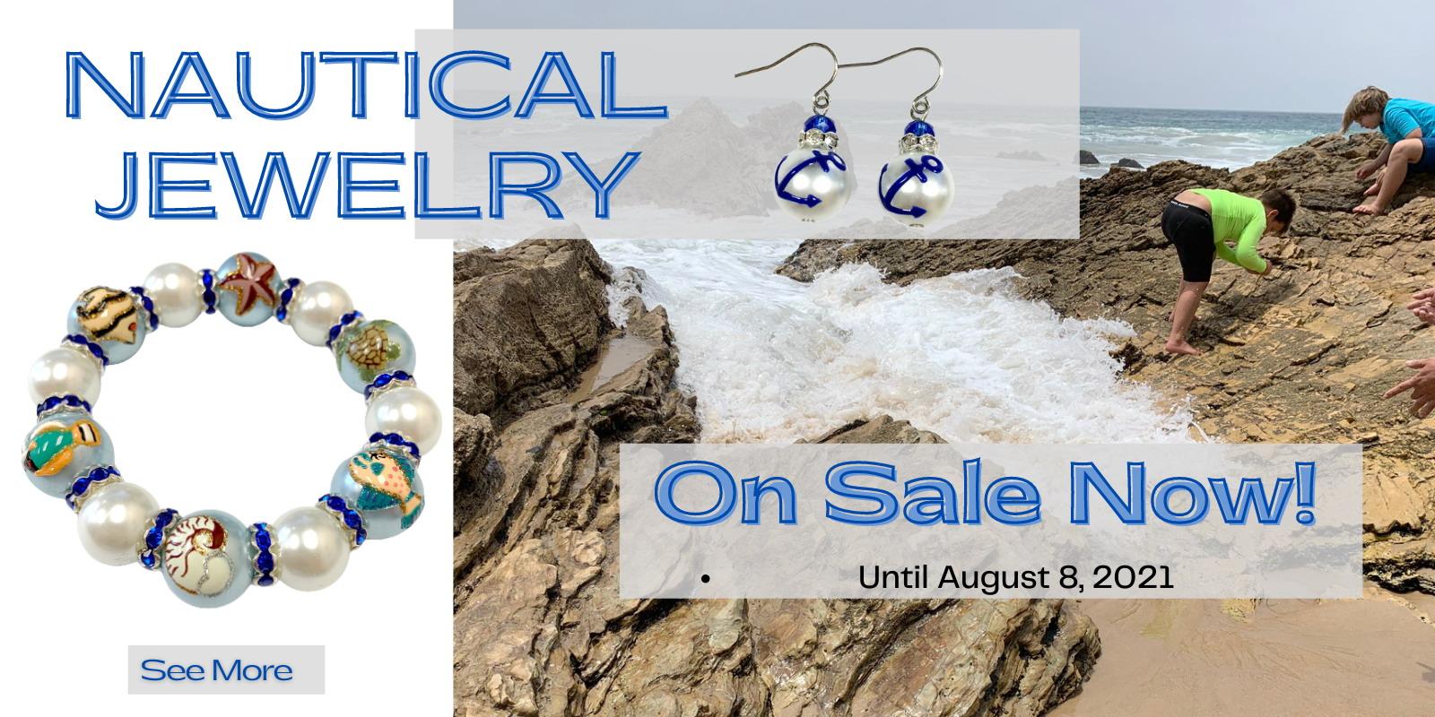 Summer Jewelry, Nautical Jewelry, Anchor Jewelry, Ocean Jewelry